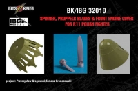 BitsKrieg BK32010 1/32 Spinner, Propeller blades & cover for PZL P.11C Polish Fighter (IBG 32001)