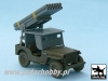 Black Dog T48027 Jeep with Rocket Launcher (1/48)