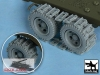 Black Dog T48049 US 1 1/2 ton Cargo Truck Traction devices (1/48