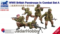 Bronco CB35130 1/35 WWII British Paratroops In Combat Set A