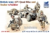 Bronco CB-35207 1/35 British Army ATV Quad Bike and Trailer with Soldiers