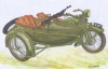 Choroszy V04 1/72 SOKÓŁ (FALCON) 1000 with SIDE CAR and Browning wz. 28