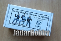 Copper State Models F32-016 1/32 WWI Gotha Bomber German 2nd Crew (3 figures)