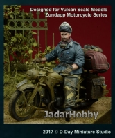 D-Day Miniature 35080 1/35 HG Division Officer Motorcycle Rider