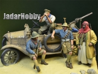 D-Day Miniature 35124 1/35 WWI Desert Patrol - LCP Ford T Crew w/Accessories