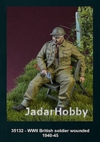 D-Day Miniature 35132 1/35 WWII British Soldier Wounded, 1940-45