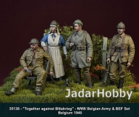 "D-Day Miniature 35138 1/35   ""Together against Blitzkrieg"" Belgian Army & BEF set"