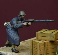 D-Day Miniature 35151 1/35 Black Devils Lewis MG Gunner, WWII Dutch Army