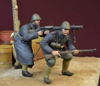 D-Day Miniature 35153 1/35 Black Devils Lewis MG Team, WWII Dutch Army