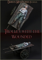 Darius Miniatures F35035 1/35 Trolley with the Wounded, WW1