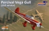 Dora Wings DW72002 1/72 Percival Vega Gull ( civil service)