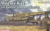 Dragon 14132 1/144 Morser Karl mit Railway Transport Carrier