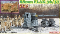 Dragon 6923 1/35 88mm FLAK 36/37 (2 in 1)