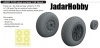 Eduard 648503 1/48 P-51D wheels oval tread