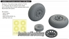 Eduard 648504 1/48 P-51D wheels cross tread