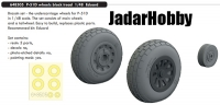 Eduard 648505 1/48 P-51D wheels block tread
