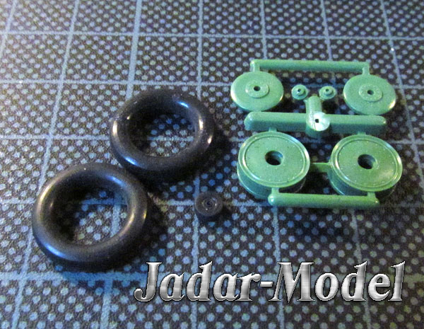 ELF 4802 Rubber Wheels for Polikarpov I-153 (1:48)
