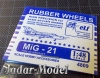 ELF 4809 Rubber Wheels for MiG-21 (1:48)