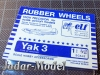ELF 4819 Rubber Wheels for Yak 3 (1:48)