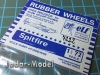 ELF 7222 Rubber Wheels for Spitfire (1:72)