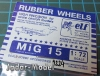 ELF 7224 Rubber Wheels for MiG-15, MiG-9 (1:72)