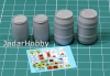 Eureka E-039 1/35 Plastic Chemical Storage Drums Set#1