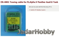 Eureka ER-4801 1/48 Towing cable for WWII German Panzerkampfwagen V Panther Ausf.G