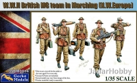 Gecko Models 35GM0014 1/35 WWII British MG Team in Marching (N.W.Europe)