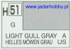 Mr.Hobby 051 (Gunze Sangyo) Aqueus  Hobby Color Color  - H51 LIGHT  GULL GRAY