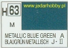 Mr.Hobby 063 (Gunze Sangyo) Aqueus  Hobby Color Color  - H63 METALLIC BLUE GREEN