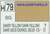 Mr.Hobby 079  (Gunze Sangyo) Aqueus  Hobby Color Color  - H79 SANDY YELLOW (DARK YELLOW)