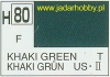 Mr.Hobby 080  (Gunze Sangyo) Aqueus  Hobby Color Color  - H80 KHAKI GREENw