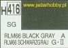 Mr.Hobby 416 (Gunze Sangyo) Aqueus  Hobby Color Color  - H416 RLM66 BLACK GRAY
