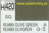 Mr.Hobby 420 (Gunze Sangyo) Aqueus  Hobby Color Color  - H420 RLM80 OLIVE GREEN