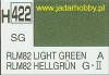 Mr.Hobby 422 (Gunze Sangyo) Aqueus  Hobby Color Color  - H422 RLM82 LIGHT GREEN