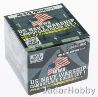 Mr.Hobby CS643 WWII US Navy Warship Camouflage Color Set 1