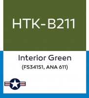 Hataka Hobby HTK-B211 Interior Green (FS34151, ANA 611) (10ml)