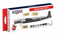 Hataka Hobby HTK-AS110 Mid-War Luftwaffe paint set (paint set 8 x 17ml)