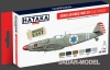 Hataka Hobby HTK-AS34 Israeli Air Force paint set (early period) (6 x 17ml)