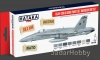 Hataka Hobby HTK-AS44 USAF, USN & USMC paint set (modern greys)(8 x 17ml)