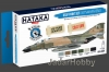 Hataka Hobby HTK-BS09 USAF (Vietnam war-era) (paint set 6 x 17ml)
