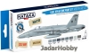 Hataka Hobby HTK-BS44 USAF, USN & USMC (modern greys) (paint set 8 x 17ml)