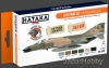 Hataka Hobby HTK-CS09 USAF Paint Set (Vietnam war-era) (paint set 6 x 17ml)