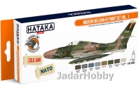 "Hataka Hobby HTK-CS59 ""Modern Belgian AF vol. 1"" (paint set 8 x 17ml)"