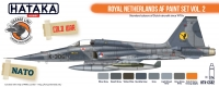 Hataka Hobby HTK-CS82 Royal Netherlands AF paint set vol. 2 (8 x 17ml)