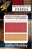 HGW 232024 1/32 Remove Before Flight - Easy Belts Israel