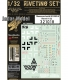 HGW 321018 1/32 Bf 109G-6 - Super Riveting Set for Revell