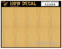 HGW DECAL 532059 1/32 Light Plywood  - Transparent