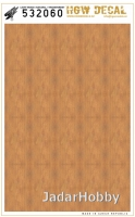 HGW DECAL 532060 1/32 Light Wood - Transparent (NO GRID)