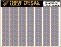 HGW DECAL 572003 1/72 5 Colour Lozenge Lower - Transparent